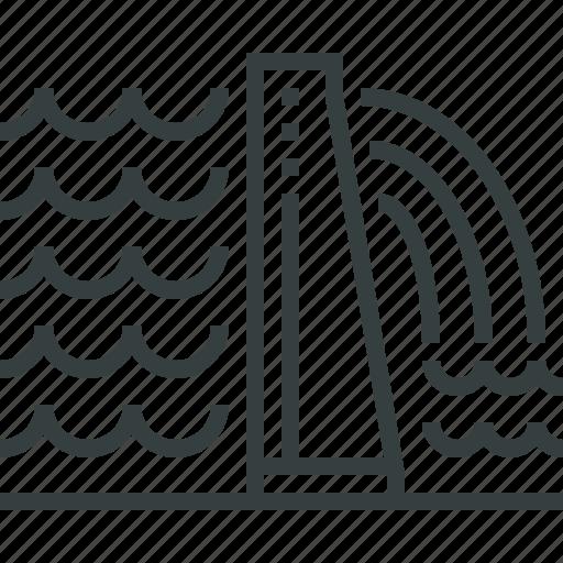 dam, hydropower icon