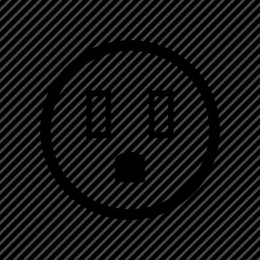 outlet, plug, power, socket, type b, typeb icon