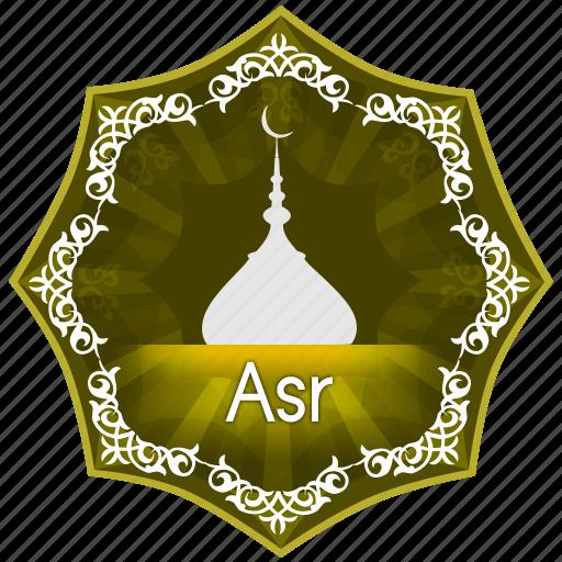 asr, english, islam, muslim, muslims worship, pray, prayer, the five daily prayers icon