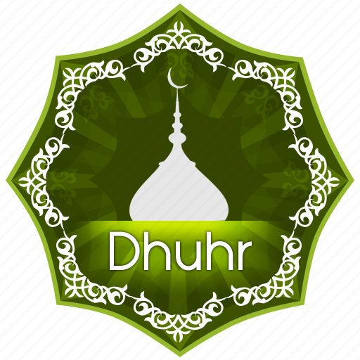 dhuhr, english, islam, muslim, muslims worship, pray, prayer, the five daily prayers icon