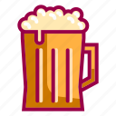 alcohol, beer, beverage, drink, glass, jar, restaurant icon