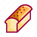 bakery, bread, cake, dessert, eat, food, restaurant icon