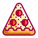 fastfood, food, italian, nice, pepperoni, pizza icon