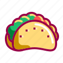 delicious, food, mexican, nachos, taco, tasty icon