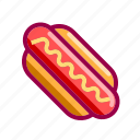 dog, eat, fastfood, hot, hotdog, nice, street icon