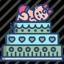 baby, shower, cake