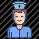 nurse, man