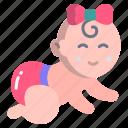 baby, crawling