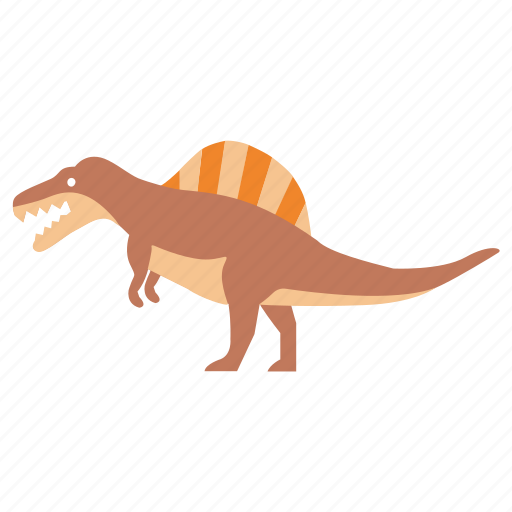 carnivore, cretaceous, dinosaur, giant, lizard, spine, spinosaurus icon