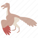 archaeopteryx, bird, dinosaur, jurassic, prehistoric, urvogel