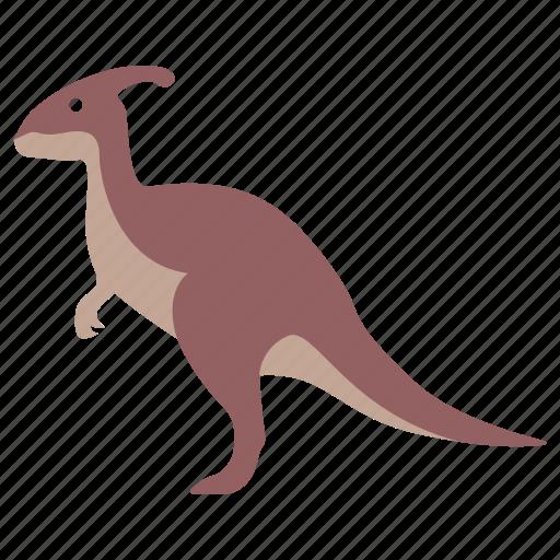 charonosaurus, crested, dinosaur, duckbill, herbivore, jurassic icon