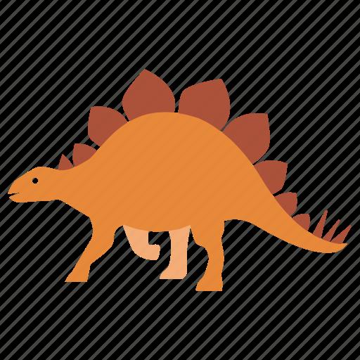 cretaceous, dinosaur, fossil, herbivore, jurassic, prehistoric, stegosaurus icon