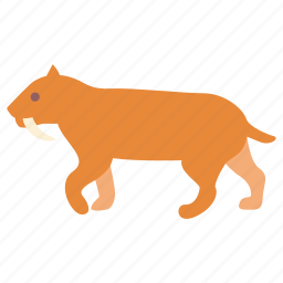 cat, prehistoric, saber, sabertooth, smilodon, tiger, toothed icon