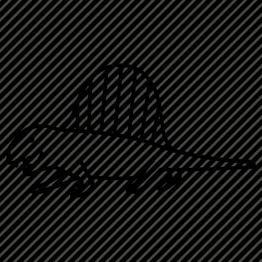 animal, dimetrodon, permian, prehistoric, reptile, sail icon