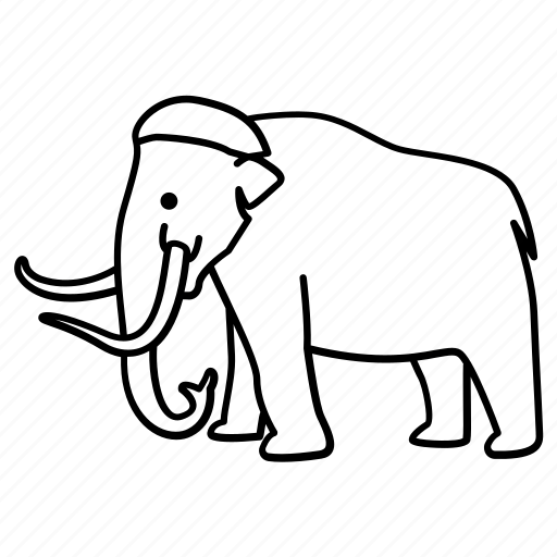 animal, elephant, mammoth, prehistoric, wooly icon