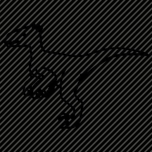 carnivorous, deinonychus, dinosaur, jurassic, raptor, velociraptor icon