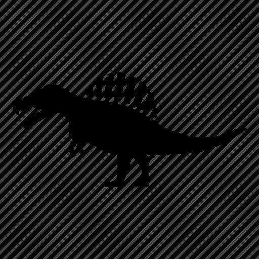 carnivore, cretaceous, dinosaur, giant, lizard, spine, spinosaurus icon