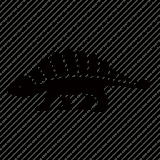ankylosaurus, armored, armoured, cretaceous, dinosaur, fossil, jurassic icon
