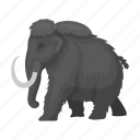 ancient, mammoth, animal, elephant, extinct, wool