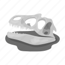 ancient, animal, bone, dinosaur, nature, skull, wild icon