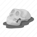 ancient, bone, head, human, skeleton, skull icon