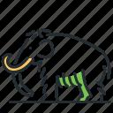 animal, extinct, mammoth, prehistoric icon