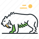 animal, extinct, prehistoric, saber-toothed tiger icon