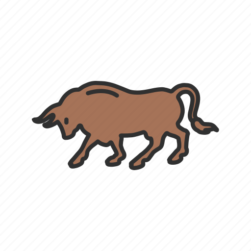 animal, bull, bull market, stock market icon