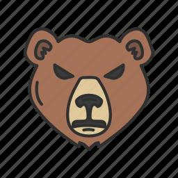animal, bear, bear market, stock market icon