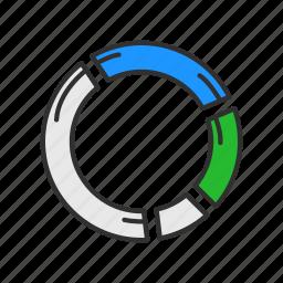 data analysis, graph, marketing, pie chart icon