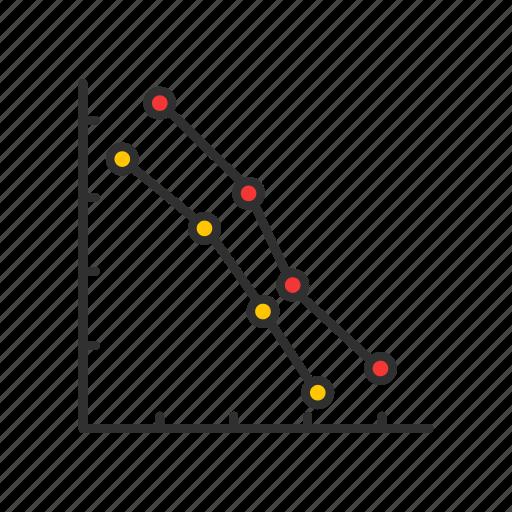data analysis, dot plot graph, graph, marketing icon