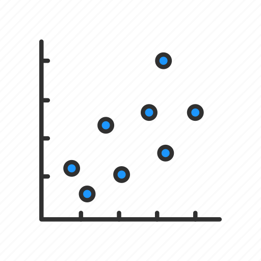 data analysis, graph, marketing, scatterplot graph icon