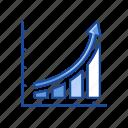 arrow, bar graph, chart, exponential growth