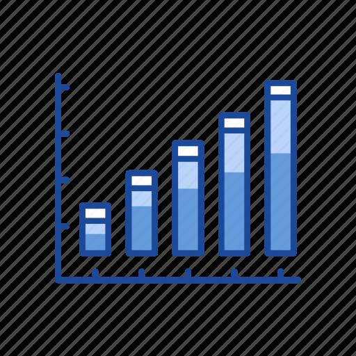 bar, bar graph, chart, sales icon