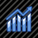 arrow, bar graph, data analysis, sales icon