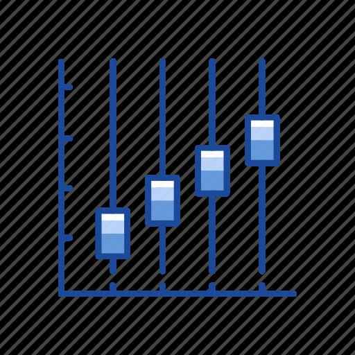 bar graph, bars, chart, sales icon