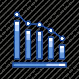bar graph, chart, dot plot graph, sales icon