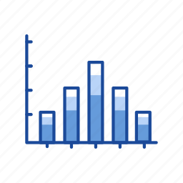 bar graph, chart, data, statistic icon