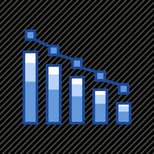 bar graph, chart, dot plot graph, statistic icon