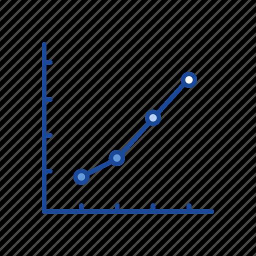 chart, dot plot graph, sales, statistic icon