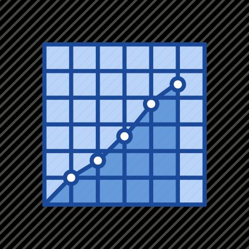 chart, dot plot graph, graph, statistic icon