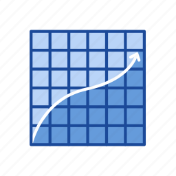 arrow, chart, line graph, statistic icon