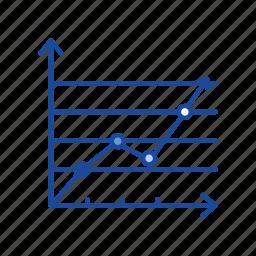 chart, data analysis, dot plot graph, statistic icon