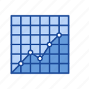 chart, data analysis, dot plot graph, statistic icon