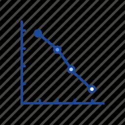 chart, data analysis, dot plot graph, graph icon
