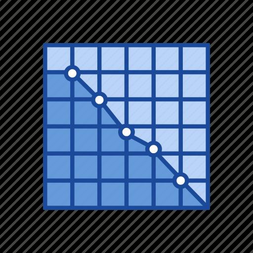 arrow, bar graph, chart, line graph icon