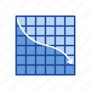 arrow, bar graph, chart, line graph icon