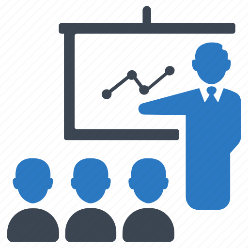 business, conference, group, meeting, training icon