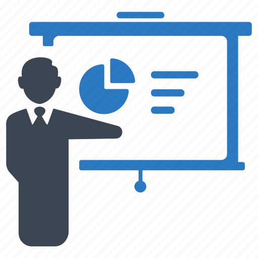 businessman, conference, meeting, people, presentation icon
