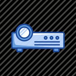 digital projector, image projector, speaker, video icon